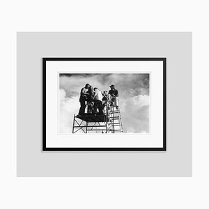 Ready to Roll Silver Fibre Gelatin Print Framed in Black by Slim Aarons