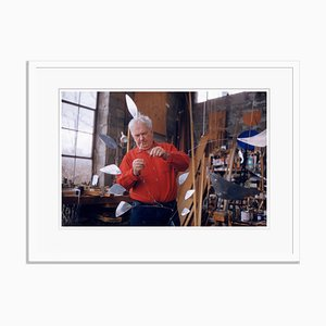 Calder Oversize Archival Pigment Print Framed in White by Philip Harrington