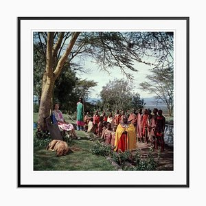 Lady Hamilton Oversize C Print Framed in Black by Slim Aarons