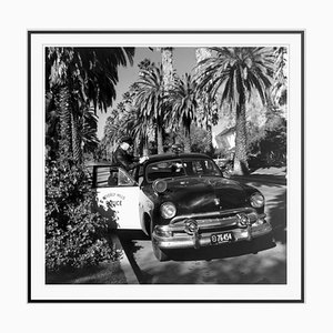 Beverly Hills Cop Silver Fibre Gelatin Print Framed in Black by Slim Aarons