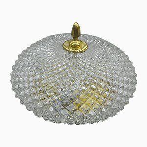 Mid-Century Glass Ceiling Lamps, 1960s, Set of 2