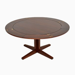 Danish Rosewood Flip Flap Lotus Dining Table from Dyrlund, 1960s