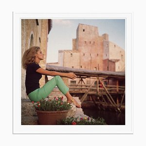 Dolores Guinness Oversize C Print Framed in White by Slim Aarons