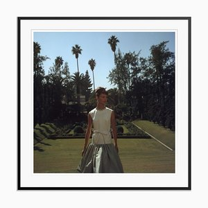 Two-Tone Dress Oversize C Print Framed in Black by Slim Aarons