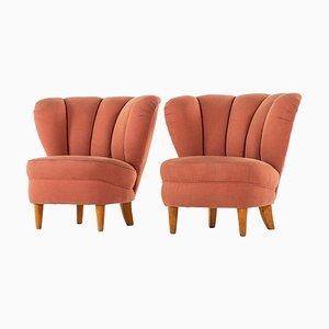 Schwedische Sessel im Stil von Otto Schulz, 1940er, 2er Set