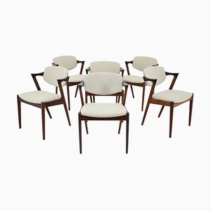 Rosewood Model 42 Dining Chairs by Kai Kristiansen for Andersen Møbelfabrik, 1960s, Set of 6