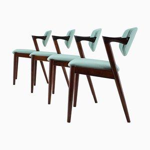 Chaises de Salon Modèle 42 en Palissandre par Kai Kristiansen pour Andersen Møbelfabrik, 1960s, Set de 4
