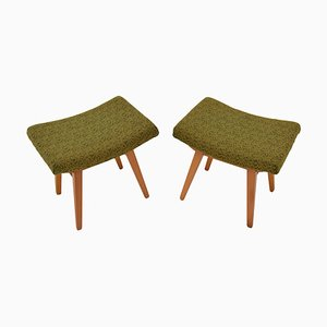 Mid-Century Footstools from Ton, 1960s, Set of 2