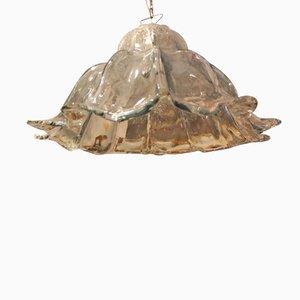 Lámpara colgante con forma de campana de cristal de Murano