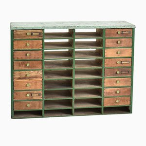 Vintage French Factory Drawers, 1940s