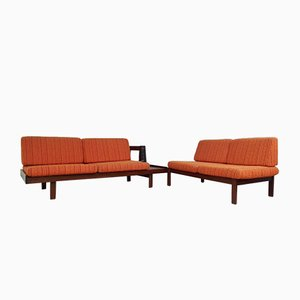 Mid-Century Danish Modular Corner Sofa Set by Guy Rogers, Set of 2