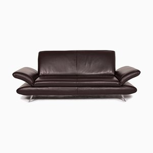 Dark Brown Leather Rossini 2-Seat Sofa from Koinor