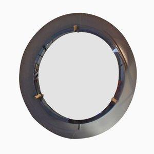 Vintage Italian Round Mirror from Cristal Art, 1960s