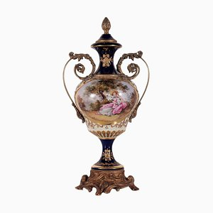 French Vase in Ceramic and Bronze from Sevres
