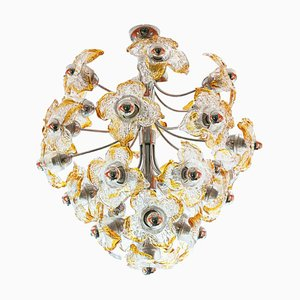 Chandelier in Murano Glass Attributed to Mazzega, 1950s