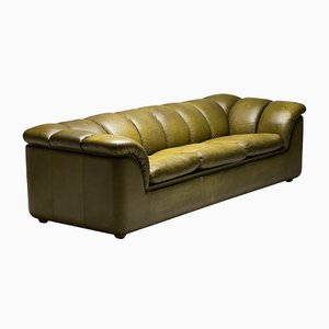 Olive Green Sofa from Poltrona Frau, 1978