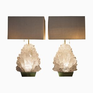 Natural Rock Crystal Lighting by Demian Quincke, Set of 2