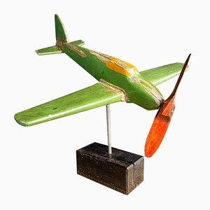 Folk Art Wooden Airplane, 1940s