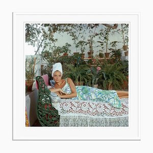 Quiet Afternoon Oversize C Print Framed in White by Slim Aarons