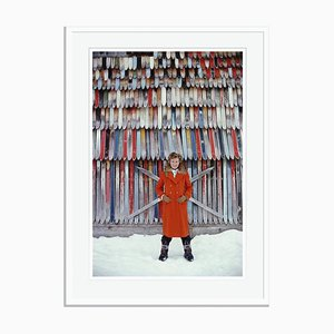 Princess Ruspoli Oversize C Print Framed in White by Slim Aarons