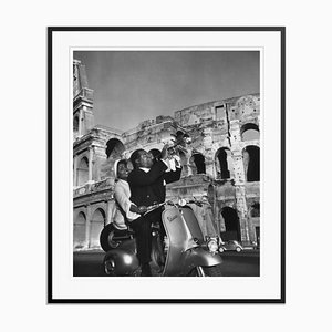 Jazz Scooter Silver Fibre Gelatin Print Framed in Black by Slim Aarons