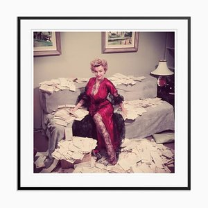 Fan Mail Oversize C Print Framed in Black by Slim Aarons