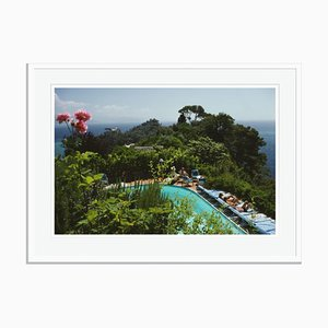 Casa Montefino Oversize C Print Framed in White by Slim Aarons