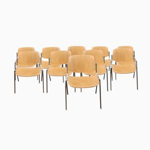 Stacking Chairs by Giancarlo Piretti for Castelli, 1967, Set of 10