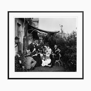 Beauty Queen Silver Fibre Gelatin Print Framed in Black by Slim Aarons