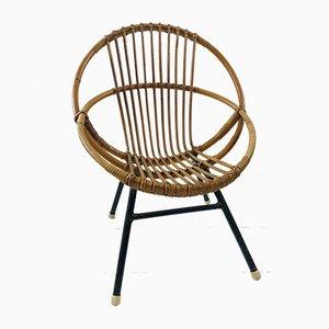 Dutch Rattan Children's Chair from Rohé Noordwolde, 1958