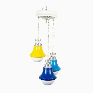 Space Age Multi-Color 3-Light Ceiling Lamp, 1970s