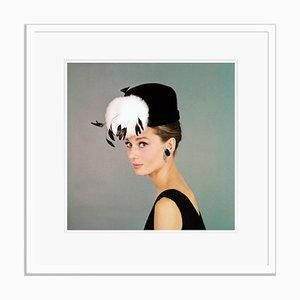 Audrey Hepburn Framed in White