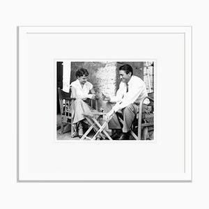 Audrey Hepburn and Gregory Peck Archival Pigment Print Framed in White