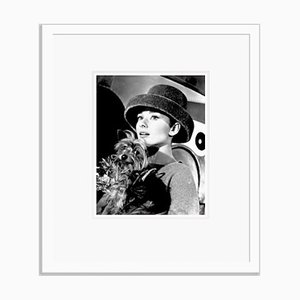 Audrey Hepburn Funny Face Archival Pigment Print Framed in White