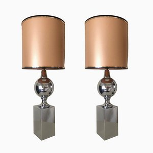 Vintage Table Lamps by Philippe Barbier, 1970s, Set of 2
