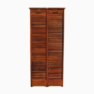 Vintage Classifier Archive Shutter in Oak