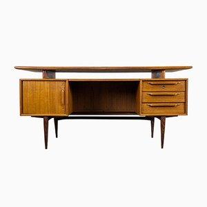 Vintage Teak Desk from Heinrich Riestenpatt, 1960s