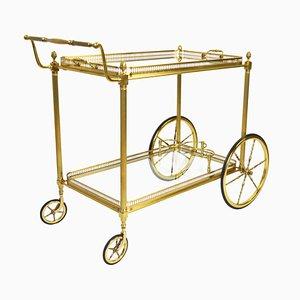 Mid-Century Brass Bar Cart, 1960s