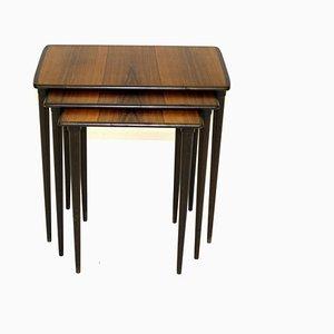 Tavolini ad incastro in palissandro, anni '60, set di 3