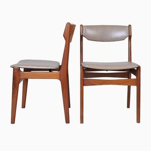 Dining Chairs by Erik Buch, 1960s, Set of 2
