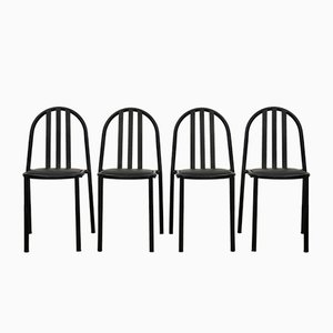 Black Dining Chairs by Robert Mallet-Stevens, 1970s, Set of 4