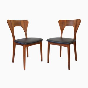Vintage Danish Chairs by Niels Koefoed for Koefoeds Hornslet, Set of 2