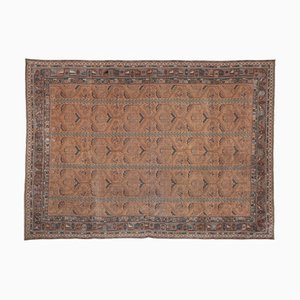 Turkish Oushak Rug With Floral Border, 1970s