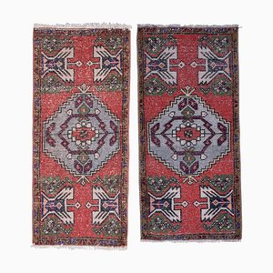 Vintage Small Turkish Rugs, Set of 2