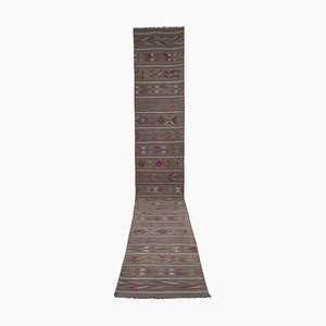 Vintage Extra Long Turkish Kilim Runner Rug