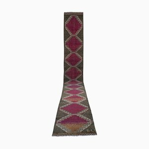Vintage Kurdish Extra Long Hallway Runner