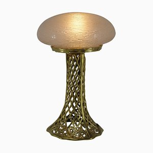Art Nouveau Brass Table Lamp, 1900s