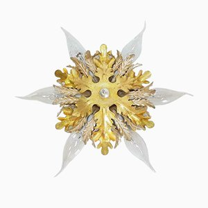 Vintage Eclectic Flower Ceiling Lamp from Banci Firenze, 1970s