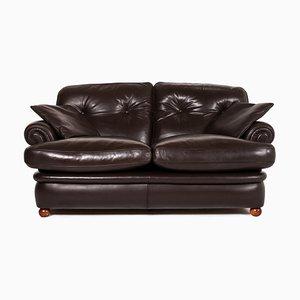 Dark Brown Leather 2-Seat Sofa from Poltrona Frau