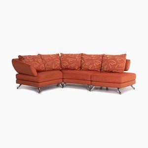 Divano angolare in tessuto arancione di Rolf Benz